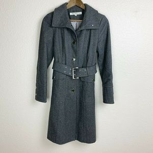 Kenneth Cole New York gray wool blend coat